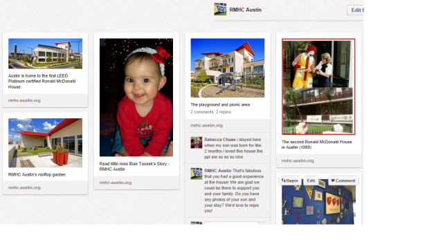 RMHC Austin Pinterest Page