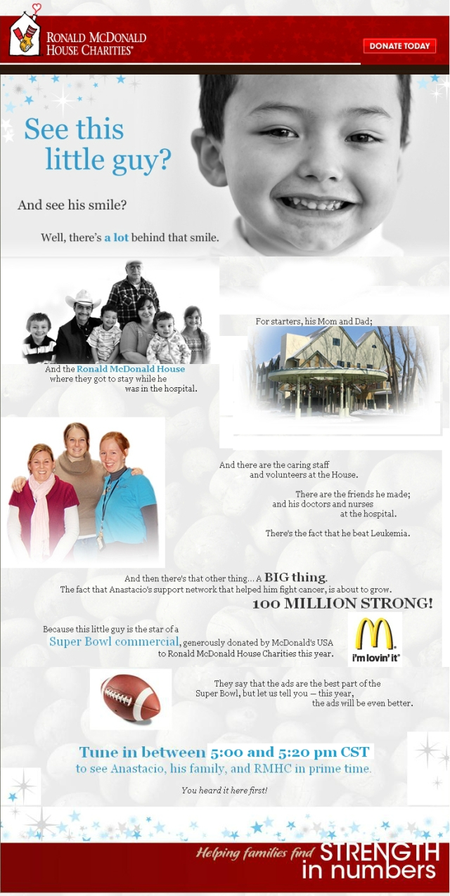 RMHC Superbowl Commercial