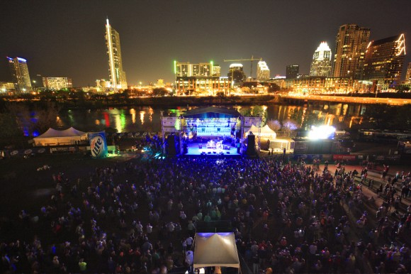 SXSW Crowd at Auditorium Shores, Austin, Texas
