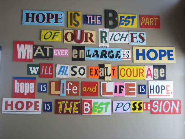 HOPE artwork at the Ronald McDonald House - Artist Gary Sweeney