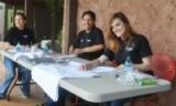 Volunteers working