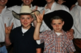 Boys with cowboy hats