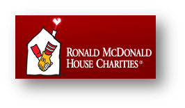 Ronald McDonald House Charities logo on red background
