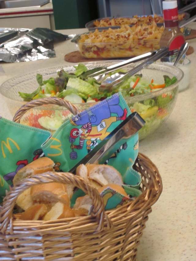 Beautiful food prepared by Little Helping Hands for Ronald McDonald House families.