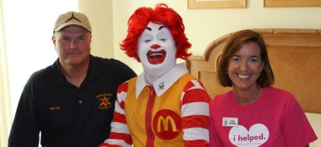 Col. McIntire, Ronald McDonald, Ann Jerome