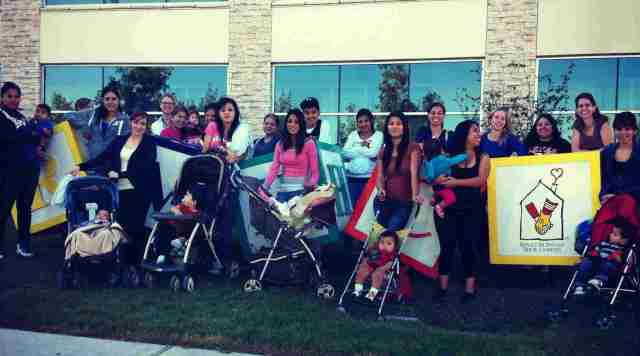 American Youthworks Students and their children visit the Ronald McDonald House