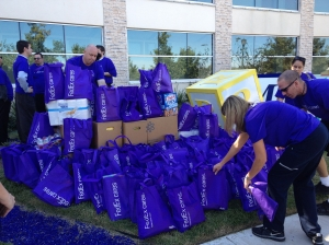 Wow!  Look at all the purple bags!