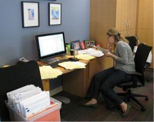 Missy, hard at work!