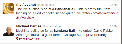Tweets from the Austinot and Michael Barnes.