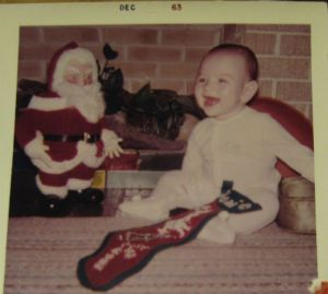 My first Christmas, Dec. 1963