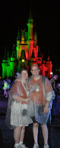 Me & Tony at Disney World.  It's one of our favorite places, rain or shine!