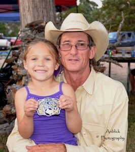 Calf Scramble Winner Granddaughter 2013
