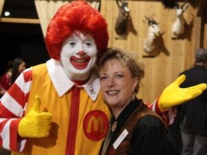 Ronald McDonald and Carla Cox