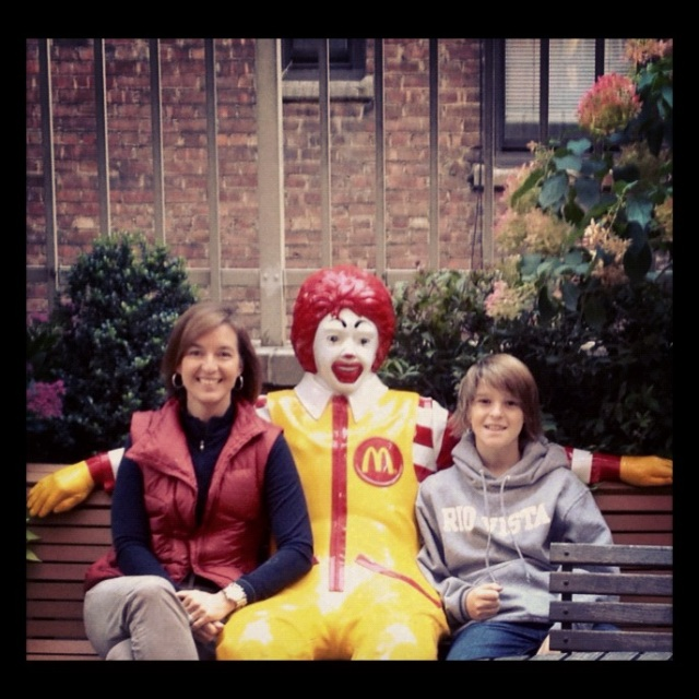 Me, Ronald and Brandon at the Ronald McDonald House in New York