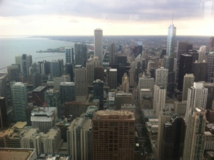 View from the 96th floor of the Hancock Building