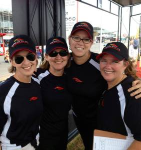 """Ann Jerome, me, Missy Strittmatter and Becky Nichols of the Loving Libby Foundation - One friend referred to Ann, Missy and me this week as """"The Dream Team""""."""