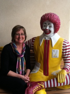 Jan hanging out with Ronald