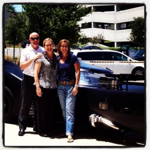 Me with my bosses. Thank you, Kent and Ann, for giving me this grand opportunity!