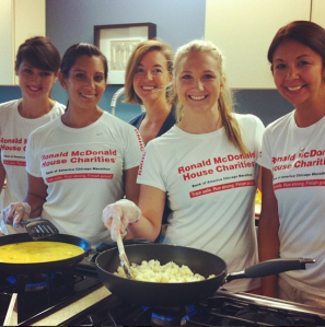 Team RMHC Austin recently cooked lunch for the families at the Ronald McDonald House