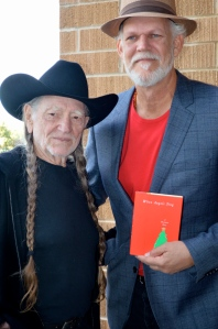 Willie Nelson and Turk Pipkin at Austin premiere of Angels Sing